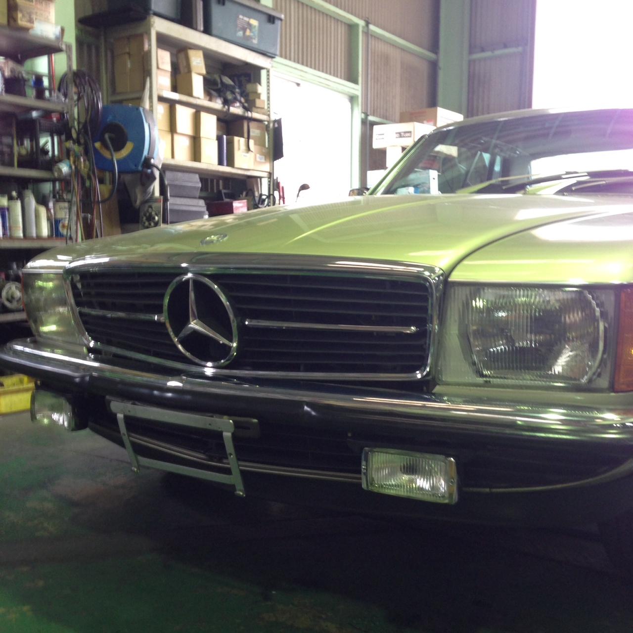 W107修理  旧車にオススメのエアコンメンテナンス _e0169210_15181057.jpg