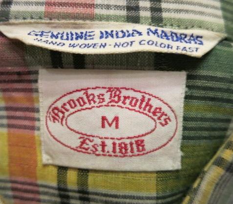 アメリカ仕入れ情報#69  70\'S BROOKS  BROTHERS マドラスシャツ!_c0144020_2152294.jpg