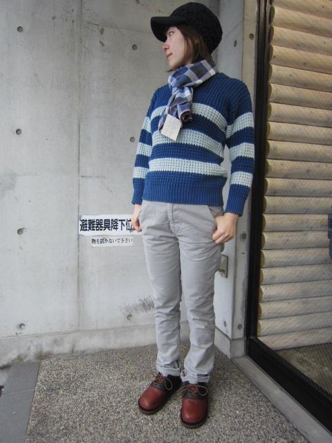 春~初夏にかけて・・・Cotton KNIT SWEATER By OLD DERBY_d0152280_4412664.jpg