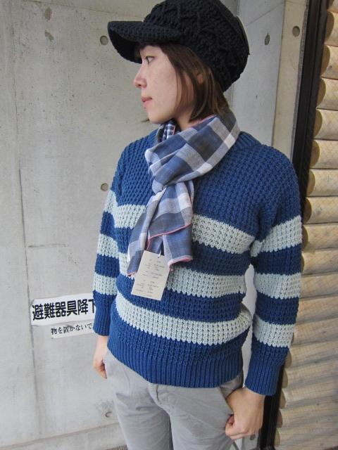 春~初夏にかけて・・・Cotton KNIT SWEATER By OLD DERBY_d0152280_441365.jpg