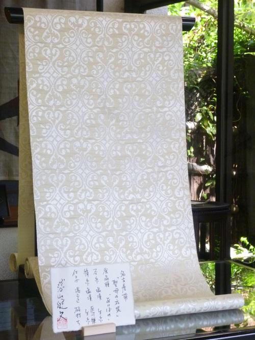 勝山健史帯   聖母の衣装    <工芸帯地洛風林の帯>_d0159384_0172993.jpg