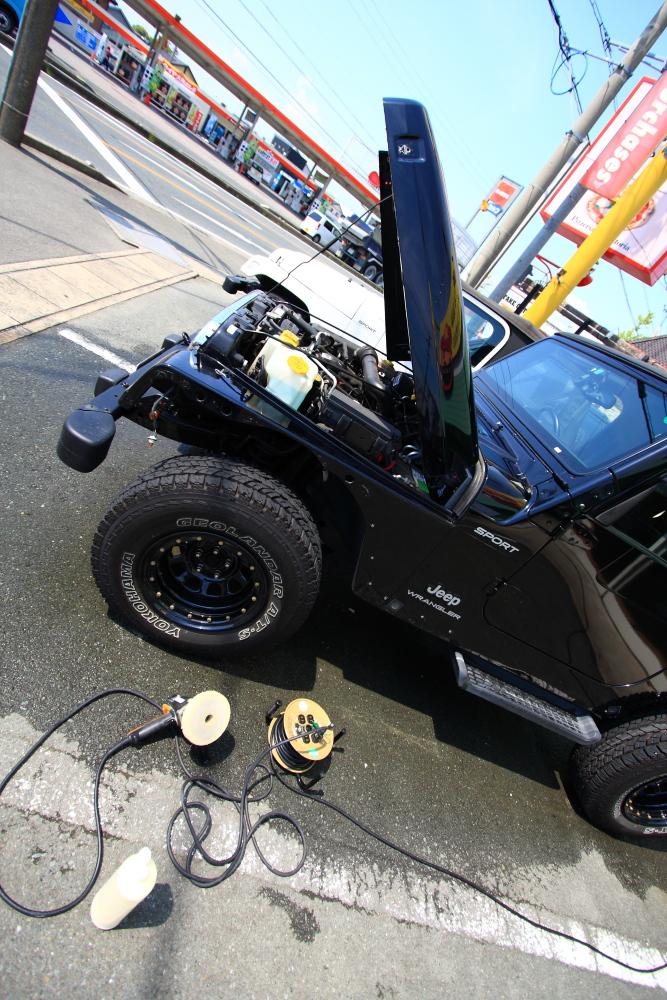 ブラックTJ外装磨きほぼ完了_f0105425_19343963.jpg