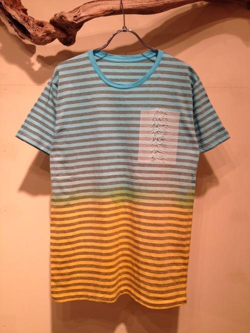 Bi-color dye Border S/S Tee(Fac-10)_f0126931_14535198.jpg