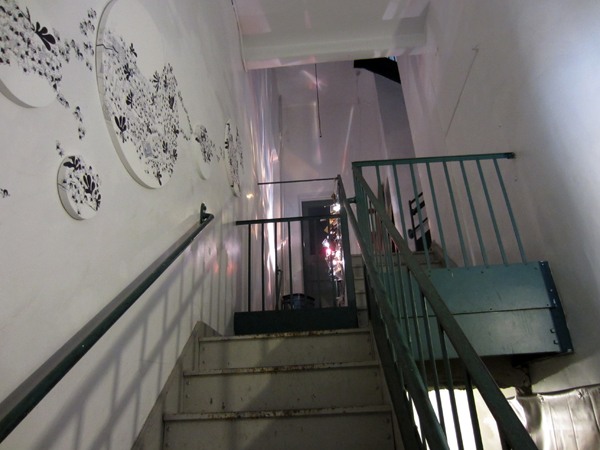 14'Japanese Emerging Artists Exhibition in NY_report3/ 1F-3F Stairway_c0096440_11384397.jpg