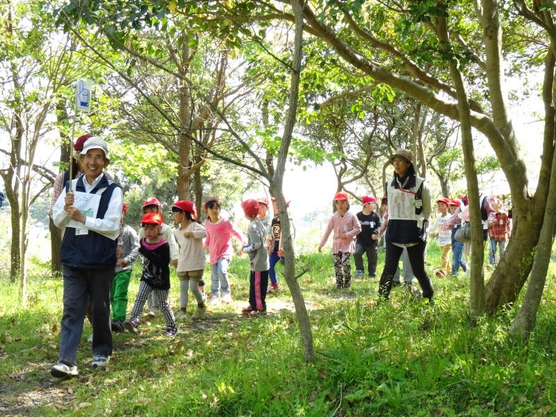 多奈川小学校1・2年生遠足サポート   in  うみべの森_c0108460_16331373.jpg