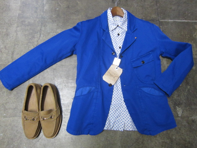 Kato BASIC ・・・ BLUE WORK TAILRORED JKT & 御知らせ。。。_d0152280_2220648.jpg