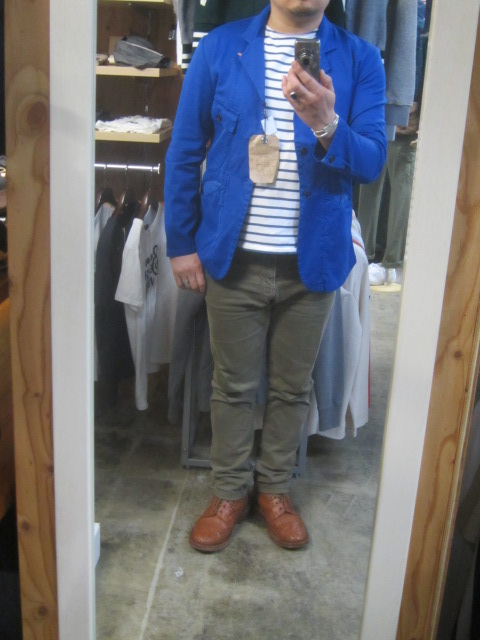 Kato BASIC ・・・ BLUE WORK TAILRORED JKT & 御知らせ。。。_d0152280_22214655.jpg