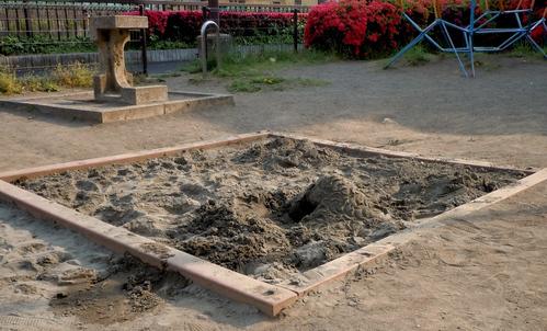 公園の砂場に砂がなくて…_b0190576_23562531.jpg