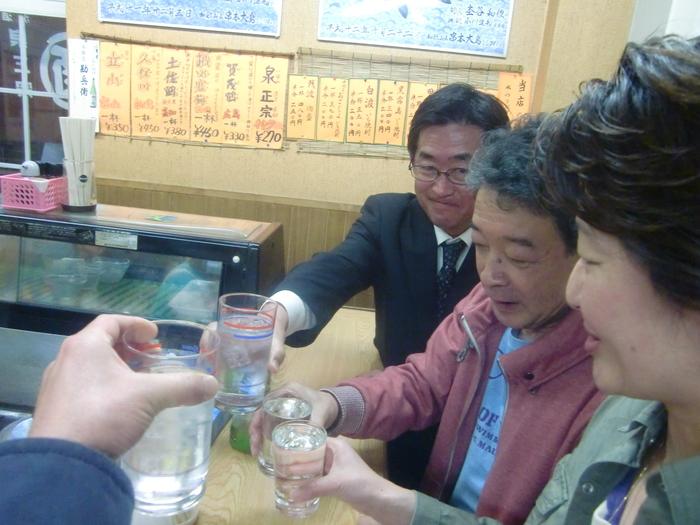 ◆ カメちゃんと大正はしご酒 _f0238779_1241381.jpg
