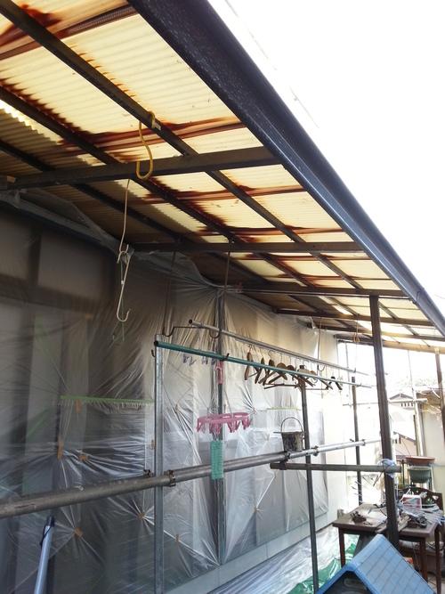 T様邸(佐伯区)外壁塗装および波板張替工事_d0125228_10534838.jpg