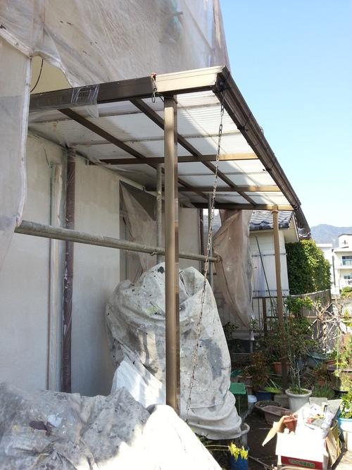 T様邸(佐伯区)外壁塗装および波板張替工事_d0125228_1053657.jpg