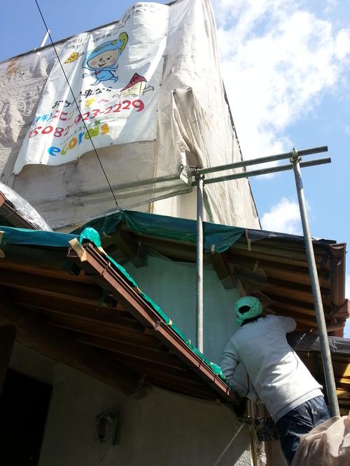 T様邸(佐伯区)外壁塗装および波板張替工事_d0125228_10554498.jpg