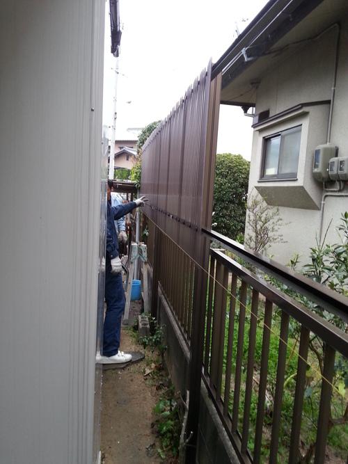 T様邸(佐伯区)外壁塗装および波板張替工事_d0125228_10564871.jpg