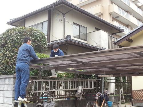 T様邸(佐伯区)外壁塗装および波板張替工事_d0125228_10565826.jpg
