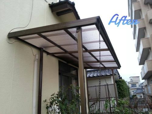 T様邸(佐伯区)外壁塗装および波板張替工事_d0125228_1059625.jpg
