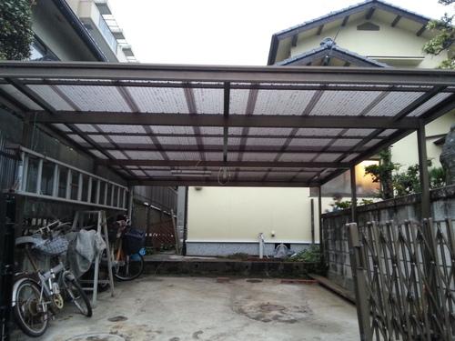 T様邸(佐伯区)外壁塗装および波板張替工事_d0125228_11205486.jpg