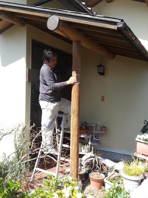 T様邸(佐伯区)外壁塗装および波板張替工事_d0125228_1173055.jpg