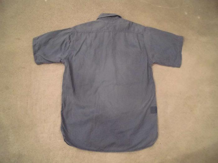 ヴィンテージ ショートスリーブマチ付き ワークシャツ_e0187362_11194948.jpg