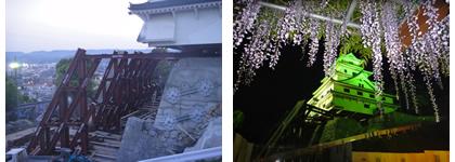 唐津城と藤_d0132289_13150820.jpg