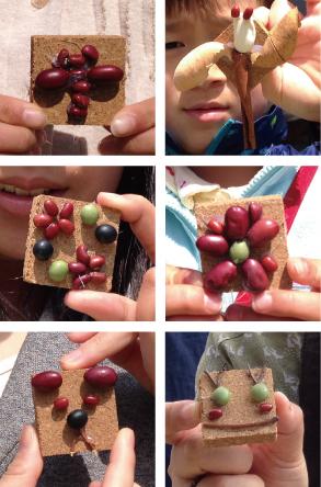 【活動レポート】2014年4月6日 タマコチマルシェにて、自然素材でブローチ作り_f0224207_20521098.jpg
