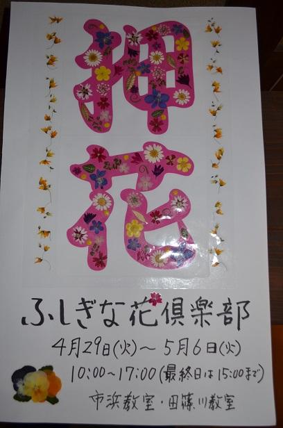 """""""ふしぎな花倶楽部"""" 押し花展_d0230676_1616301.jpg"""