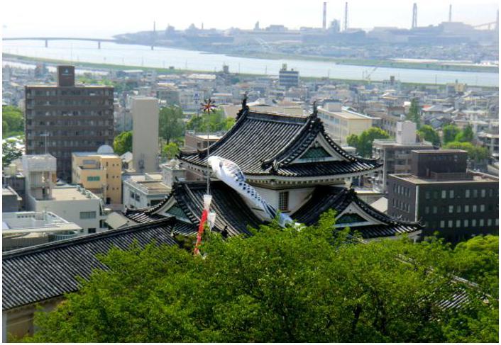 新緑の和歌山城_b0104092_1748182.jpg