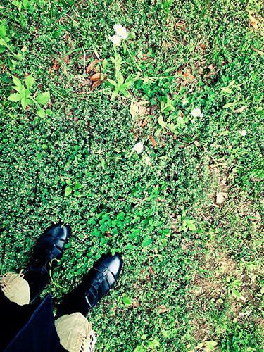 土の上に立つ - 不要なものをアース_e0243332_20551131.jpg