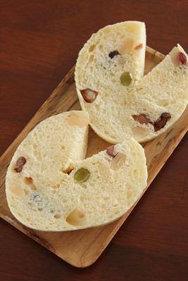 パステルなミックスかのこ入り、豆乳ふんわりパン!_a0165538_10274667.jpg