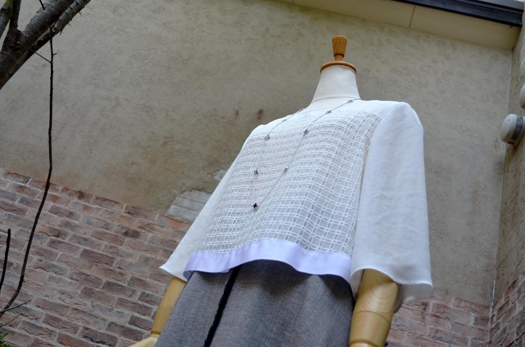 """""""クロップドブラウスにミディ丈サーキュラースカートで。。。""""_d0153941_18552917.jpg"""