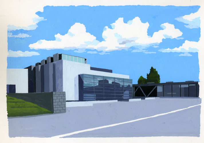 ANA機内誌翼の王国4月号吉田修一連載エッセイ「空の冒険」イラストレーション_c0075725_11314366.jpg