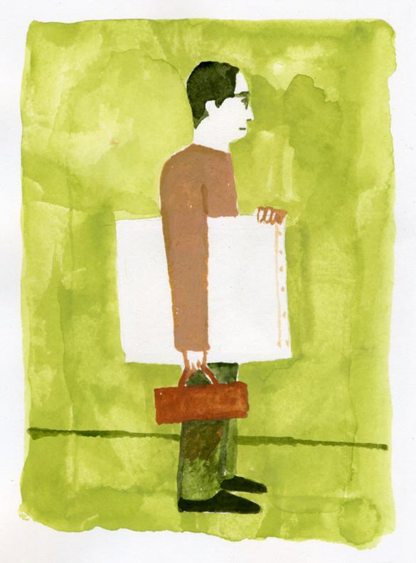 ANA機内誌翼の王国4月号吉田修一連載エッセイ「空の冒険」イラストレーション_c0075725_11342684.jpg