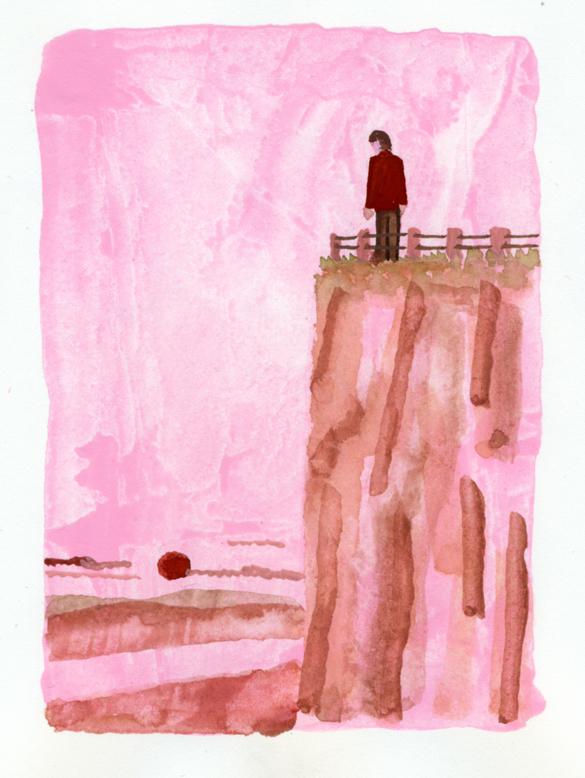 ANA機内誌翼の王国5月号吉田修一連載エッセイ「空の冒険」イラストレーション_c0075725_11525086.jpg