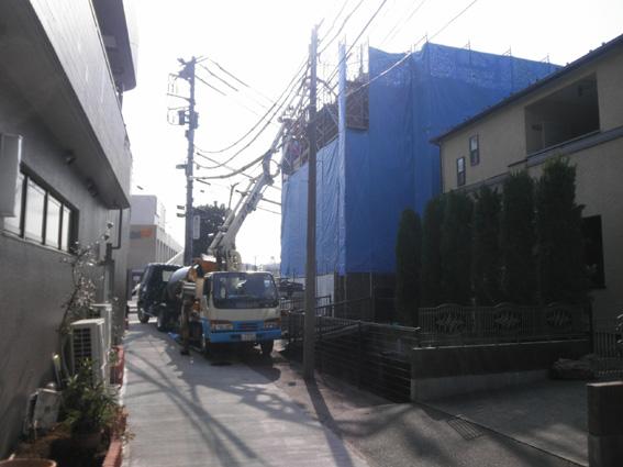 Mビル計画 3階コンクリート打設_a0147436_1857149.jpg