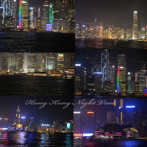 香港チムサーチョイの夜景バーAqua_a0175348_16412839.jpg