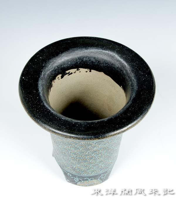 京楽焼植木鉢                     No.510_b0034163_12192029.jpg