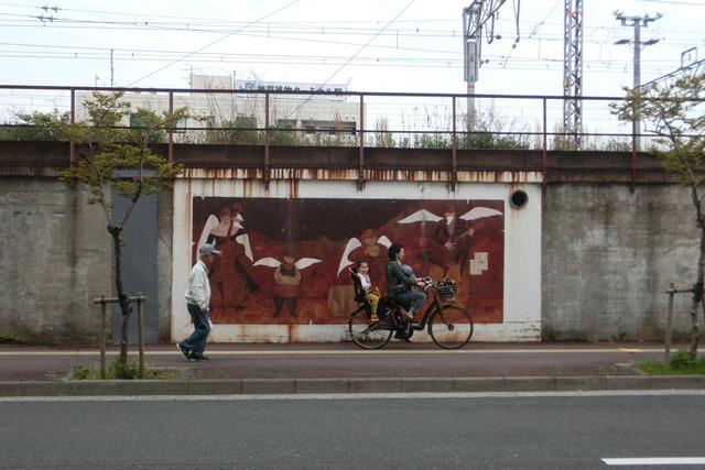 山陽本線鉄道沿線壁画展覧会、素晴らしいです!JR鷹取駅の壁画、山陽本線神戸貨物ターミナルの壁画に注目_d0181492_22124820.jpg