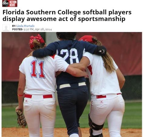 女子大学ソフトボールの試合で、素晴らしいスポーツマンシップ_b0007805_030168.jpg