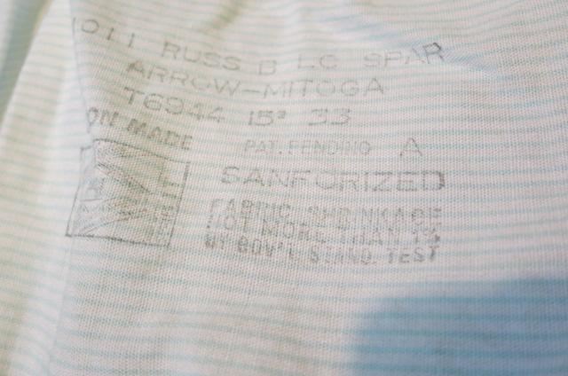 5月3日(土)入荷!50'S ARROW ボーダーシャツ!マチ付き_c0144020_156125.jpg