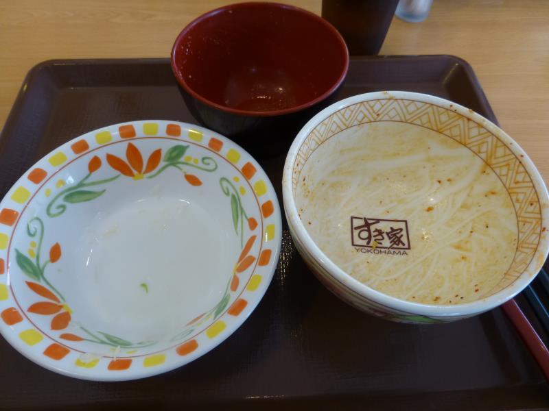 すき家のチャプチェ牛丼   宝塚中筋店_c0118393_1025020.jpg