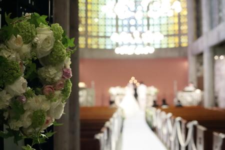 手作りのブーケと、教会の装花 東京女子大学とクレッセント様へ_a0042928_22504024.jpg