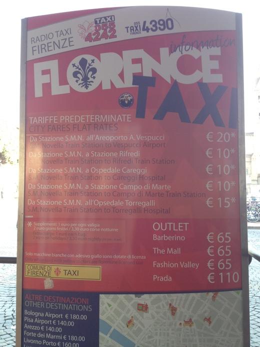 04/05/2014  フィレンツェ駅前発、タクシーの明朗会計_a0136671_3434887.jpg