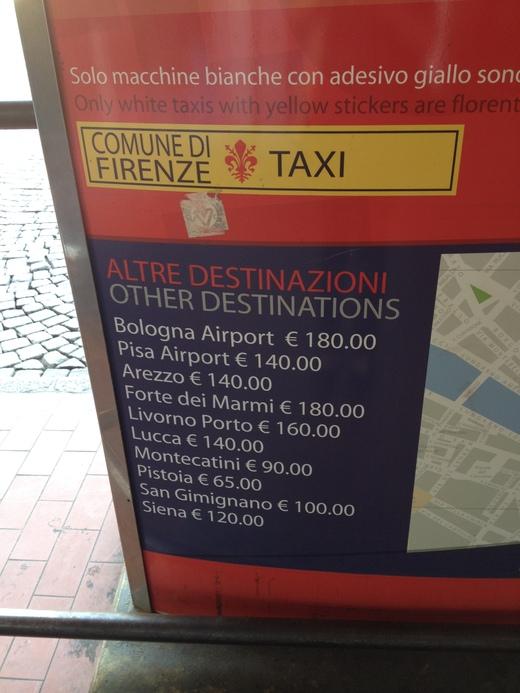 04/05/2014  フィレンツェ駅前発、タクシーの明朗会計_a0136671_353975.jpg