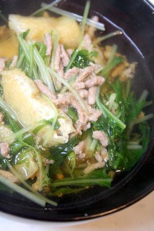 ひき肉と水菜の具沢山スープ♪ & 季節のこと♪_f0141419_06013536.jpg