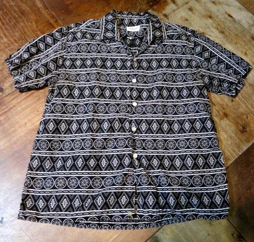 5/10(土)入荷!60'S コットンオープンカラーシャツ!BLACKカラー_c0144020_17203489.jpg