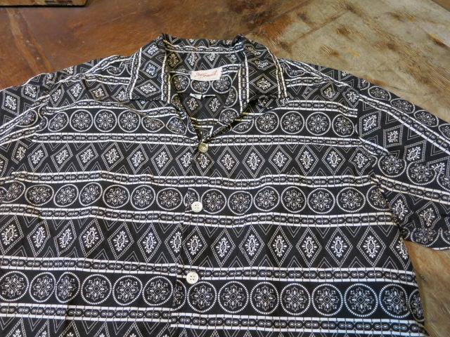 5/10(土)入荷!60'S コットンオープンカラーシャツ!BLACKカラー_c0144020_17203618.jpg