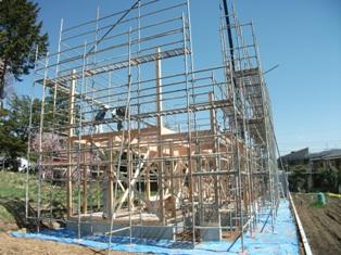 塩尻市北小野の住宅 ~建て方・上棟式_e0180332_20163964.jpg