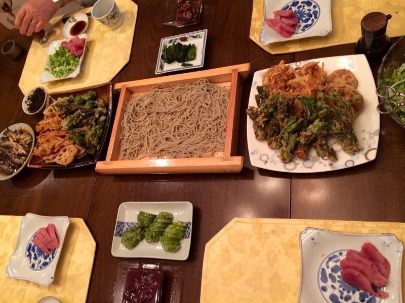 山菜天ぷら & おそば_c0151965_1344692.jpg