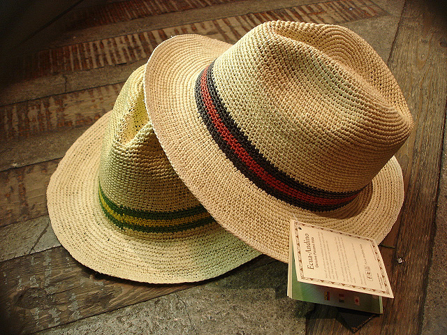 NEW : [RAFFIA]、[KENMA] & [CARLUDOVICA PALMATA] HAT !!_a0132147_1491625.jpg
