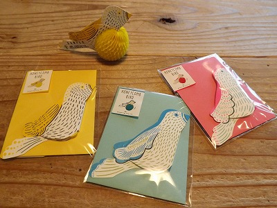 鳥のメッセージカードが新入荷しました。_d0237564_1713531.jpg