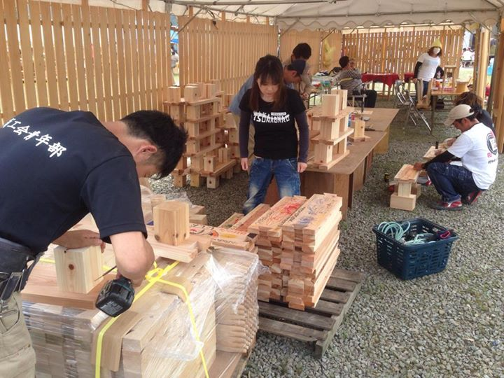 2014「つけち森林の市」ツナガルベンチ・イベント終了!祝日本一!!_a0299898_16572938.jpg